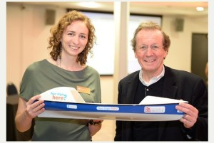 Me with the Mayor of Bristol. Courtesy the Bristol Post